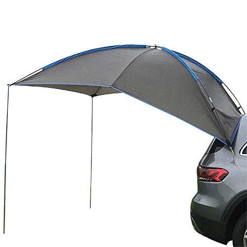 HnF Auto Traveling Tent, Car Tail Rooftop Awning Waterproof Tear Resistant Camping Tent, for Family Outdoor Beach Self-driving Travel
