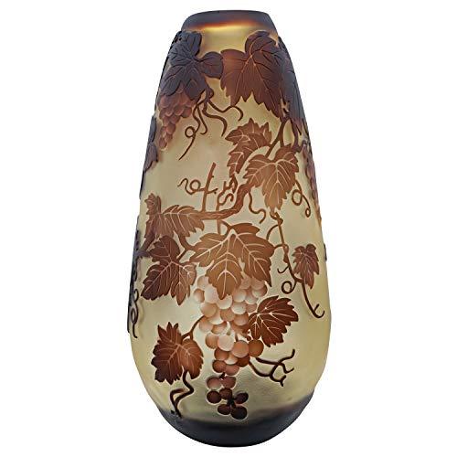 aubaho Vase Replika nach Galle Gallé Weinreben Glas Antik-Jugendstil-Stil Kopie c12