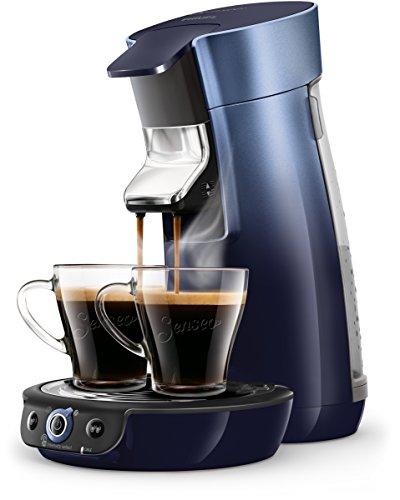 Philips Senseo HD6566/60 Viva Café Kaffeepadmaschine, 1450, Metallic Blau