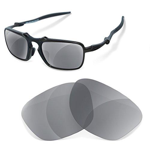 sunglasses restorer Kopatibel Ersatzgläser für Oakley Badman , Polarisierte Grau