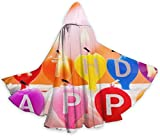 NR Alles Gute zum Geburtstag Kerze Kuchen Halloween Umhang Fancy Kapuze Cape mit Kordelzug Adult kühle Hexe Robe extralange Partei Cape