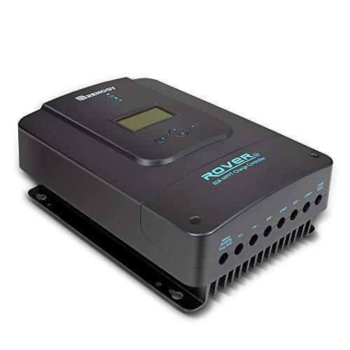 Renogy Rover 60 Amp 12V/24V/36V/48V DC Input MPPT Solar Charge Controller Auto Parameter Adjustable LCD Display Solar Panel Regulator fit for Gel Sealed Flooded and Lithium Battery
