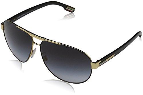 Dolce & Gabbana Men's DG2099 Sunglasses Gold/Black / Gray Gradient 61mm