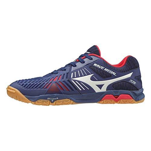 Mizuno Schuh Wave Medal Z2 + 1 Paar Socken gratis Optionen 7,5, blau/rot