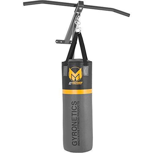 GYRONETICS ® Boxsack mit Klimmzugstange – 2in1-Boxstation-Kombi zur Wandbefestigung bis 120 kg belastbar