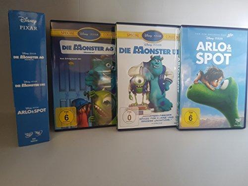Disney 3er-DVD-Box Die Monster AG + Die Monster Uni + Arlo & Spot