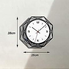 TIANYOU Wall Clock Silent No Ticking Bracket Clock Modern Geometry Polygon Wall Clock Acrylic Black and White Mirror Wall Clocks Simplicity is The Clock / 28 * 28cm #1