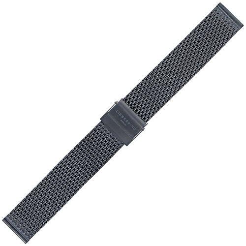 Liebeskind Uhrenarmband 18mm Edelstahl Schwarz - Uhrband B_LT-0078-MQ