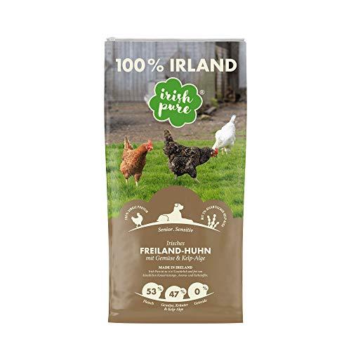 Irish Pure Senior Freiland-Huhn mit Kelp-Alge & Gemüse - Trockenfutter für Hunde, Hoher Fleischanteil, Vitamine, Getreidefrei, Sensitiv, Hundetrockenfutter, Hundefutter für alle Rassen (4kg)