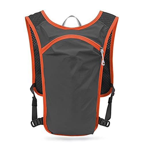 HYMD Chaleco Running 5L Trail Running Backpack, Men Mujeres Ultra Running Chalk Pack, Jogging Trekking Marathon Backpack Senderismo Bike Mochila (Color : Dark Gray)