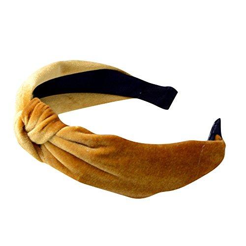 Xmiral Damen Haarband Fashion Plain Stirnband Twist Hairband Bogen Knoten Kreuz Krawatte Headwrap...