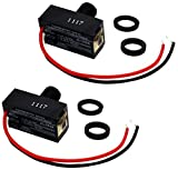 Pack of 2, Outdoor Hard-Wired Post Eye Light Control Electric Resistor Photocell Light Sensor, Dusk to Dawn Sensor, Convert Fixtures to Auto On at Night, LED HID CFL JL-103A