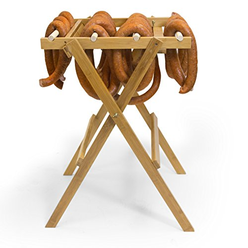 The Sausage Maker - Wooden Blooming Rack for Sausage Making