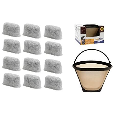 Filters For Cuisinart Coffee Maker GTF Gold Tone Filter /& 2 Charcoal Water Filters