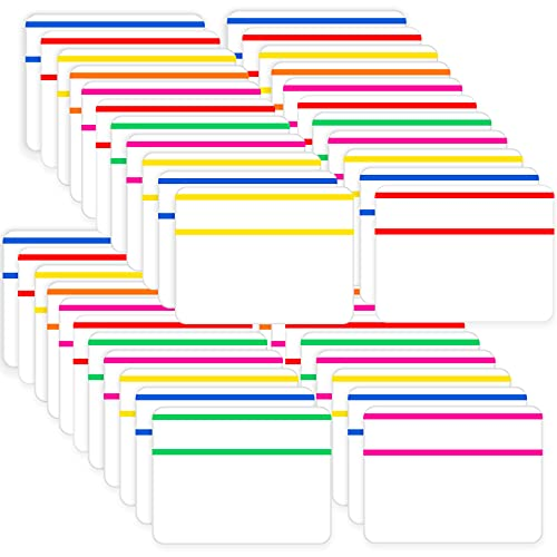 2 Inch Sticky Tabs Colored Index Tabs Self Adhesive Flag Tabs Page Markers for Books and Classify Files, Binder, File Folders (480 Pieces)