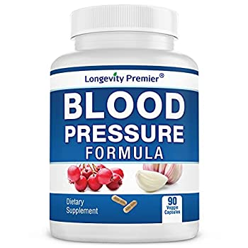 Longevity Blood Pressure Formula [90 caps] -Scientifically formulated - with 10+ standardized Herbal extracts Best Blood Pressure Supplement