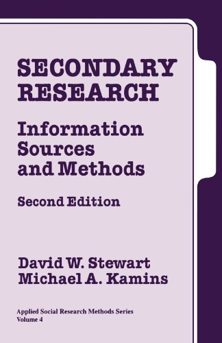 Secondary Research: Information Sources and Methods (Applied Social Research Methods Series, Band 4)