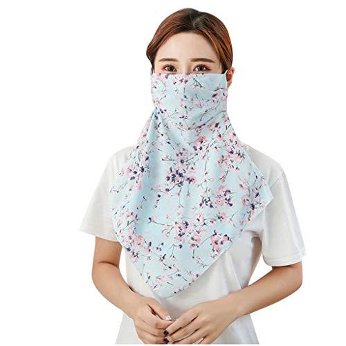 SGZJ á de Seda Para Mujer Reutilizable A Prueba De Polvo Cubierta De La Cara Polvo A Prueba De Viento Lavable de Algodón Nuevo