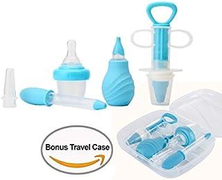 6-Piece Medical Kit with Bonus Travel Case,  Baby Infant Toddler BPA Free Medical Kit Medicine Dispenser,  Sure-Dose Medicine Dropper/Infant Baby Essentials Kit Medicine Set (Blue)