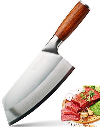 KITORY Vegetable Cleaver 7' Kitchen Knife, Sharp Chinese...