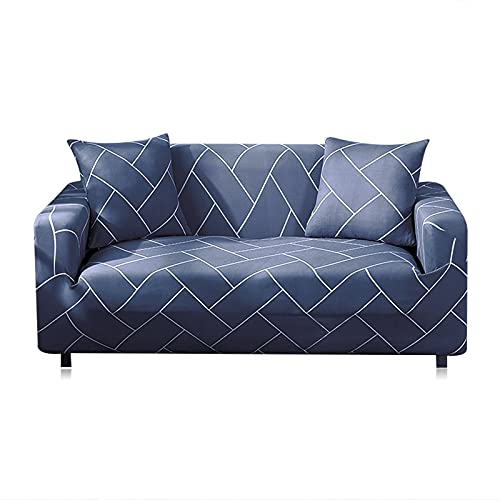 Funda de sofá elástica para Sala de Estar Funda de sofá Funda de sofá seccional Funda de sillón Mobiliario elástico Protegido A27 2 plazas
