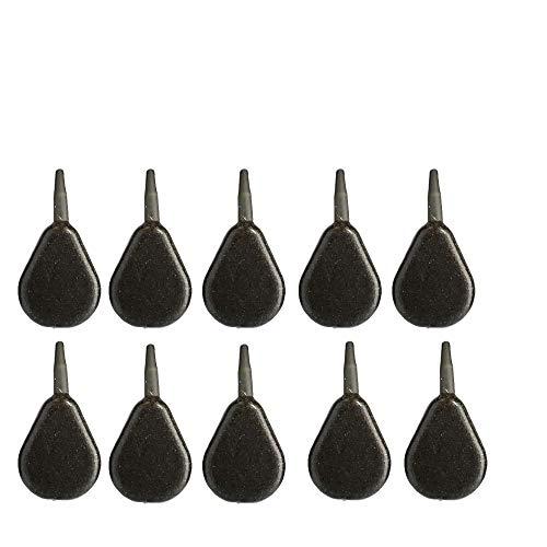 BZS Karpfen Angeln Gewichte Inline Gewichte Flat Pear Smooth erhältlich in 1 Unze 1,5 Unzen 2 Unzen 2,5 Unzen 3 Unzen 4 Unzen 5 Unzen 6 Unzen (Packung mit 10 Stück) (1.50)
