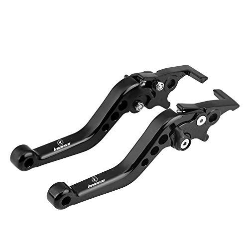 Keenso 1 Paar Motorrad Hebel Bremsgriff Universal Aluminium Bremshebel Griff Doppelscheibe(Schwarz)