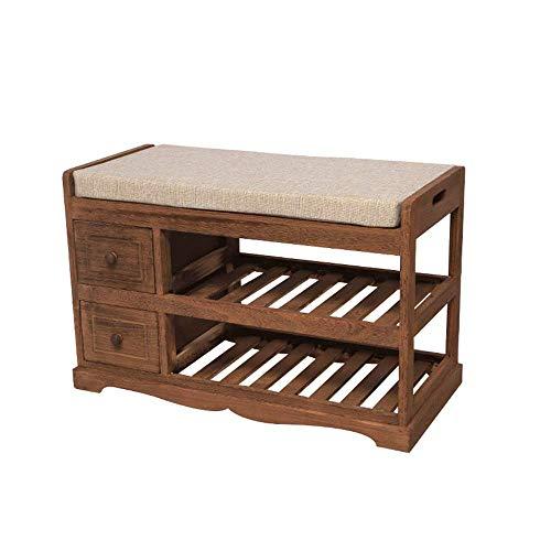 HXR Solid houten schoenen Bench Door Seat Kruk Schoenkast Opslag Moderne eenvoudige schoenen Tuinbank Schoenkast Sofa bank