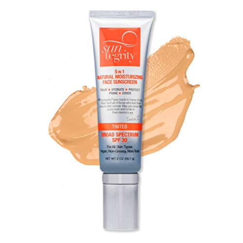 Suntegrity 5 In 1 Natural Moisturizing Face Sunscreen, Broad Spectrum Spf 30 - Tinted - MEDIUM