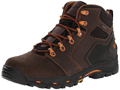 """Danner Men's Vicious 4.5"""" Plain Toe Work Boot,Brown/Orange,11 D US"""