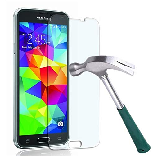 Smartphone Equipment [2er Pack] Panzerglas für Samsung Galaxy S5 Echt-Hartglas 9H, Glasfolie Schutzfolie Glas Folie Panzerfolie Bildschirm Schutz