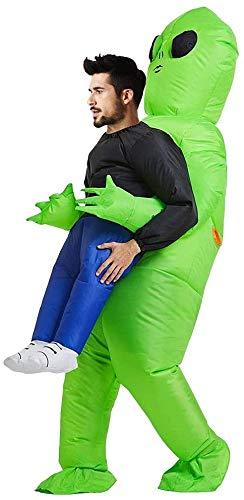 COWINN Green Alien Carrying Halloween Human Costume Grüner ausländischer tragender menschlicher Kostüm-aufblasbarer lustiger Explosionsklage Cosplay aufblasbares kostüm Erwachsene für Partei