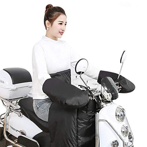 Guantes de Moto de Invierno, Gruesos para Moto Bicicleta Bicicleta Scooter Guantes Impermeables calefactables manillares de protección Guantes Calientes y Cortavientos