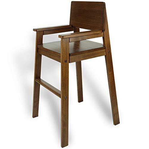 Kinderstuhl Hochstuhl Massivholz Buche Farbe PALISANDER. Modernes Design. Treppenhochstuhl Buche für Esstisch, Kinderhochstuhl für Kinder, stabil & pflegeleicht viele Farben möglich