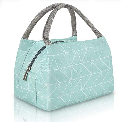 Cute Lunch Bag Insulated Lunch Tote Bag for Women Lunch Box for Teen Girls Cooler Bag Insulated Lunch Bags for Women Work, Green Plaid