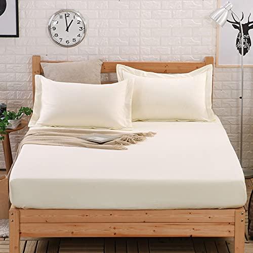 YDyun Protector de Colchón | Capa Superior de algodón Transpirable Protector de colchón de algodón de una Pieza