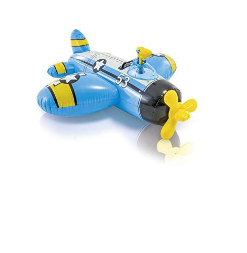 Intex Figura Avion Hinchable (132X130 CMS) con Pistola Lanza Agua, Multicolor (57537NP)...