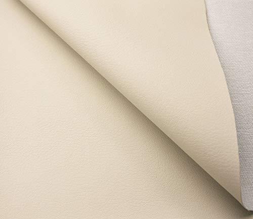 Tukan-tex Kunstleder Möbel Textil Meterware Polster Stoff PU Soft (Beige)