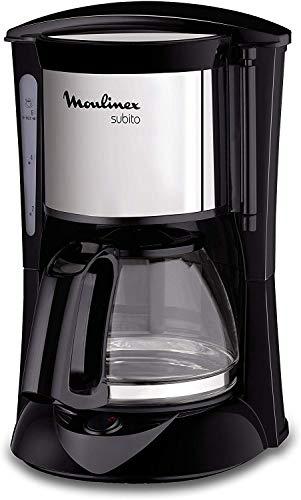 Moulinex FG150813 Subito Kaffeemaschine, 6Tassen, Schwarz/Edelstahl