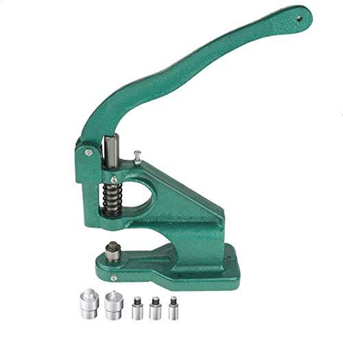 Occhiello Punch Machine Occhiellatrice,Torchietto Manuale per Rivetti Hand Press Grommet Machine con 3 Matrici, 6 mm/10 mm/12 mm,1500 Occhielli