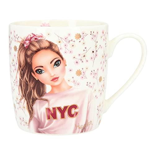Depesche TOPModel 10376 City Flowers - Taza de porcelana (300 ml, ideal para cacao, café, té y otras bebidas), multicolor