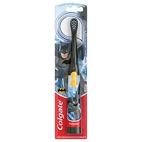 Colgate Kids Battery Powered Toothbrush, Batman - Extra Soft Bristles