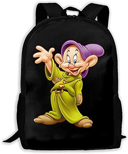 Unisex Bookbag Biancaneve ei personaggi dei sette nani Zaino unisex Borsa a tracolla Zaino scuola Zaini da viaggio Zaino per laptop