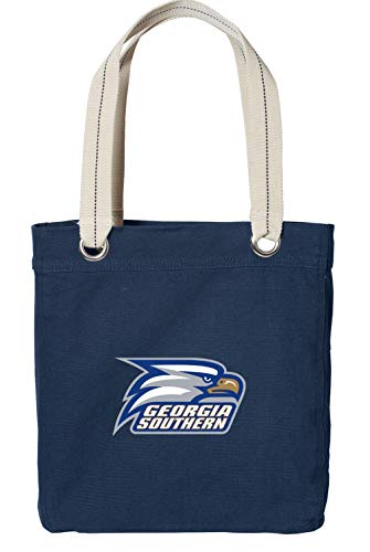 Broad Bay Georgia Southern Eagles Tote Bag Rich Dye Washed Navy Cotton...