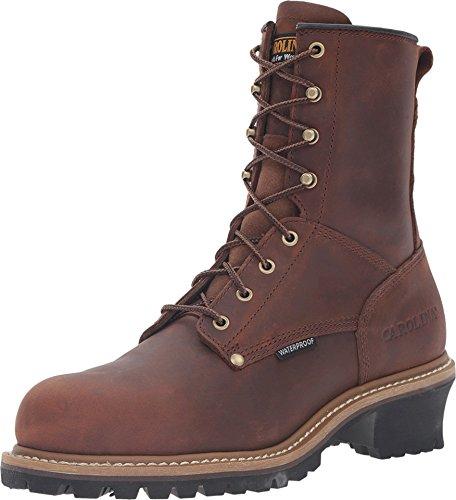 Carolina Boots: Men's Steel Toe Waterproof Logger Boots CA9821 - 14EE
