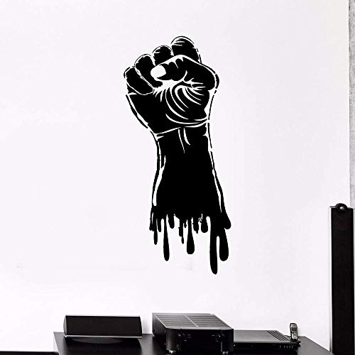 Wandaufkleber Faust Hand Vinyl Aufkleber Stärke Power Gym Wandaufkleber Wandbild Haus Ornament Schlafzimmer Junge Mann Zimmer Dekor Aufkleber Fitness 42X92cm