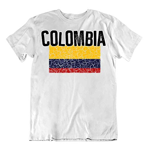 body-soul-n-spirit T-Shirt Bandera Colombia Regalo Orgullo Logo Camisa