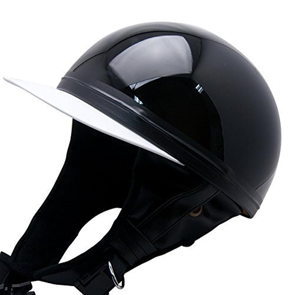 ギャングピアノを弾く程度ヘルメット バイク 【Y01 BLACK】 コルク半 ブラック 黒 SG規格適合品