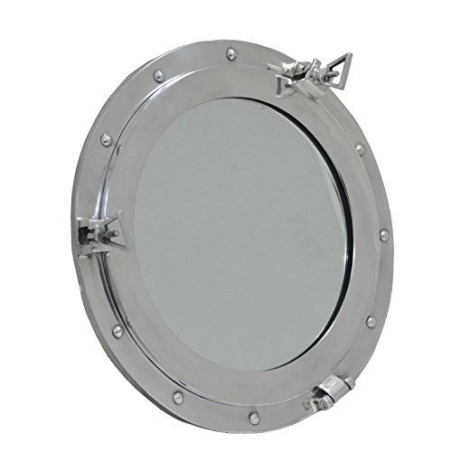 RedSkyTrader 11' Aluminum Porthole Window - Nautical Ship Decor