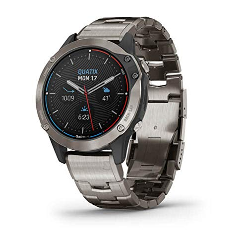 Garmin quatix 6 Titanium, Saphhire, Gray w/Ti Band, GPS Watch, EMEA